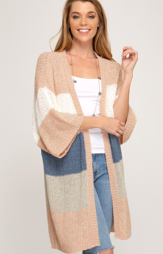 Mood is Vacay 3/4 Sleeve Cardi
