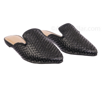 Weaved Black Slides