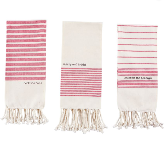 Red Home Turkish Towel- Home for the Holidays