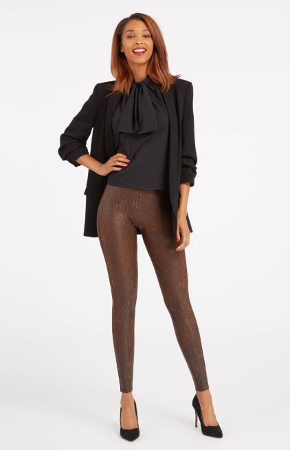 Faux Leather Snakeskin Leggings
