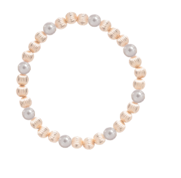 Pearl Sincerity Pattern 4mm Beaded Bracelet