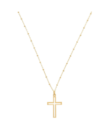Simplicity 2mm Necklace Trinity Cross