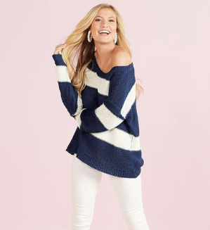 Tell Me About Spring Stripe Pullover