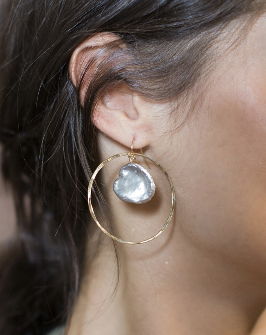 Keshi Hammered Hoops
