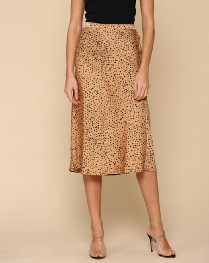 Sulli Animal Print Midi Skirt