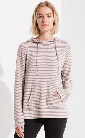The Stripe Soft Spun Knit Hoodie