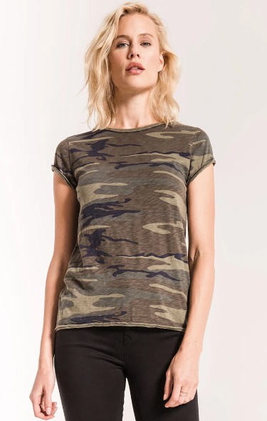 The Camo Cotton Slub Crew