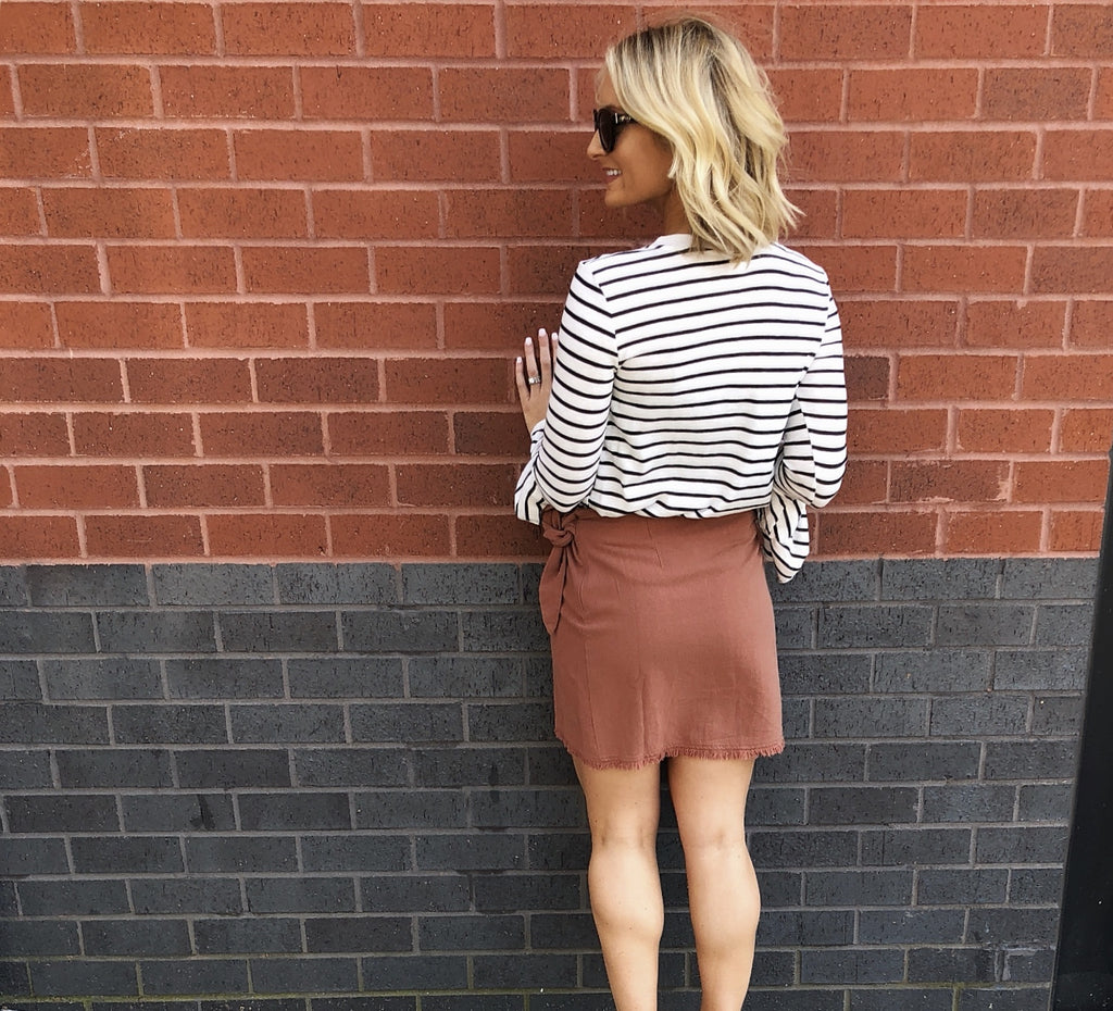 Willow Wrap Mini Skirt