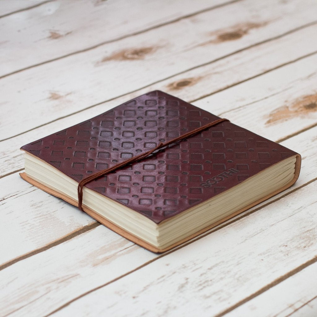 Soothi | Containers Of Creativity - Directions Square Handmade Leather Journal