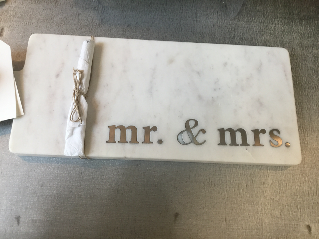 Mr and mrs marble board