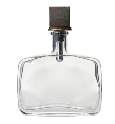 Domino Decanter- Glass with Iron Top