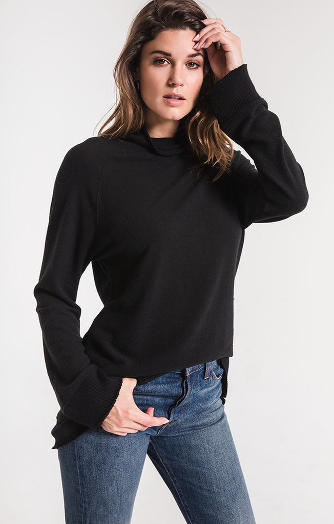 The Soft Spun Mock Neck Sweater