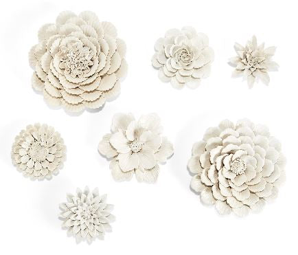 White Garden Wall Sculptures
