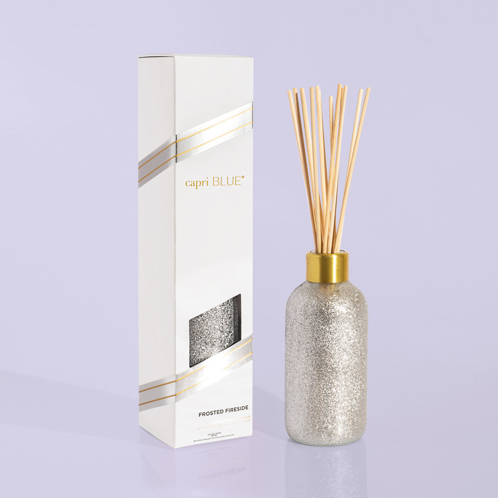 Frosted Fireside Glam Reed Diffuser, 8 oz