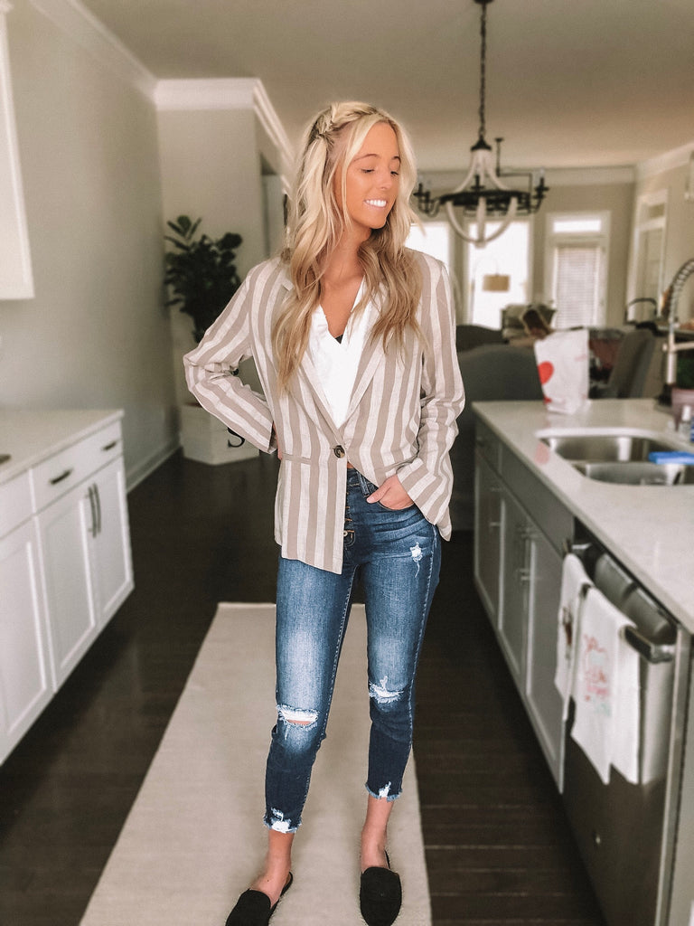 Samantha Striped Blazer