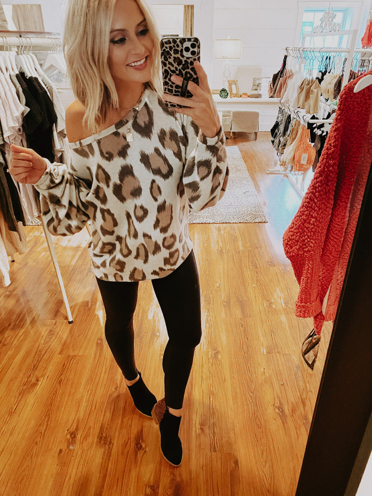 Comfy Cute Animal Print Top