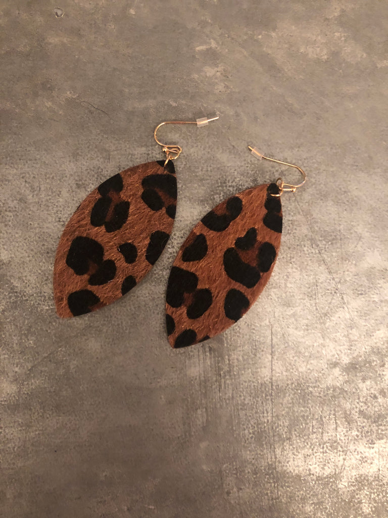 Laura Leopard Earrings