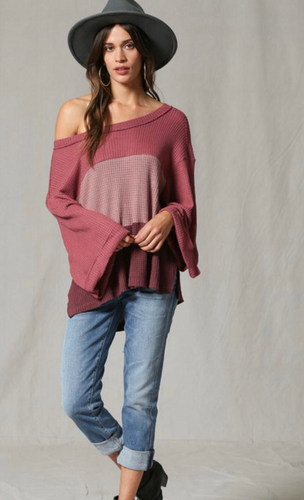 Cynthia Color Block Top