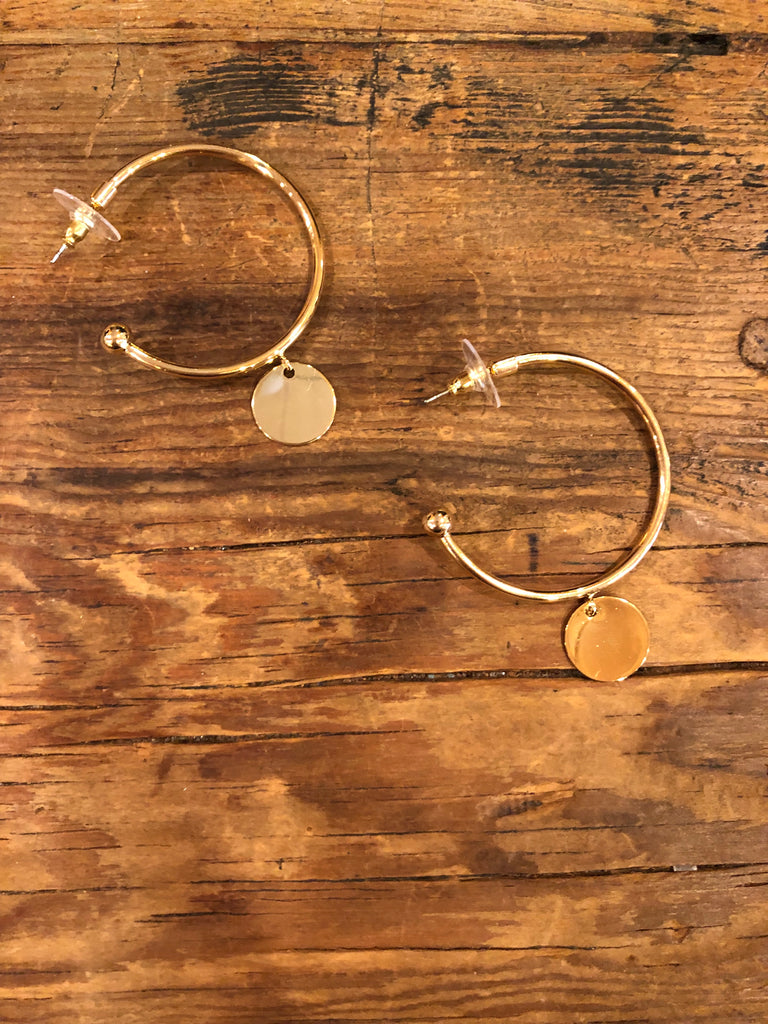 Debi Gold Disc Earrings