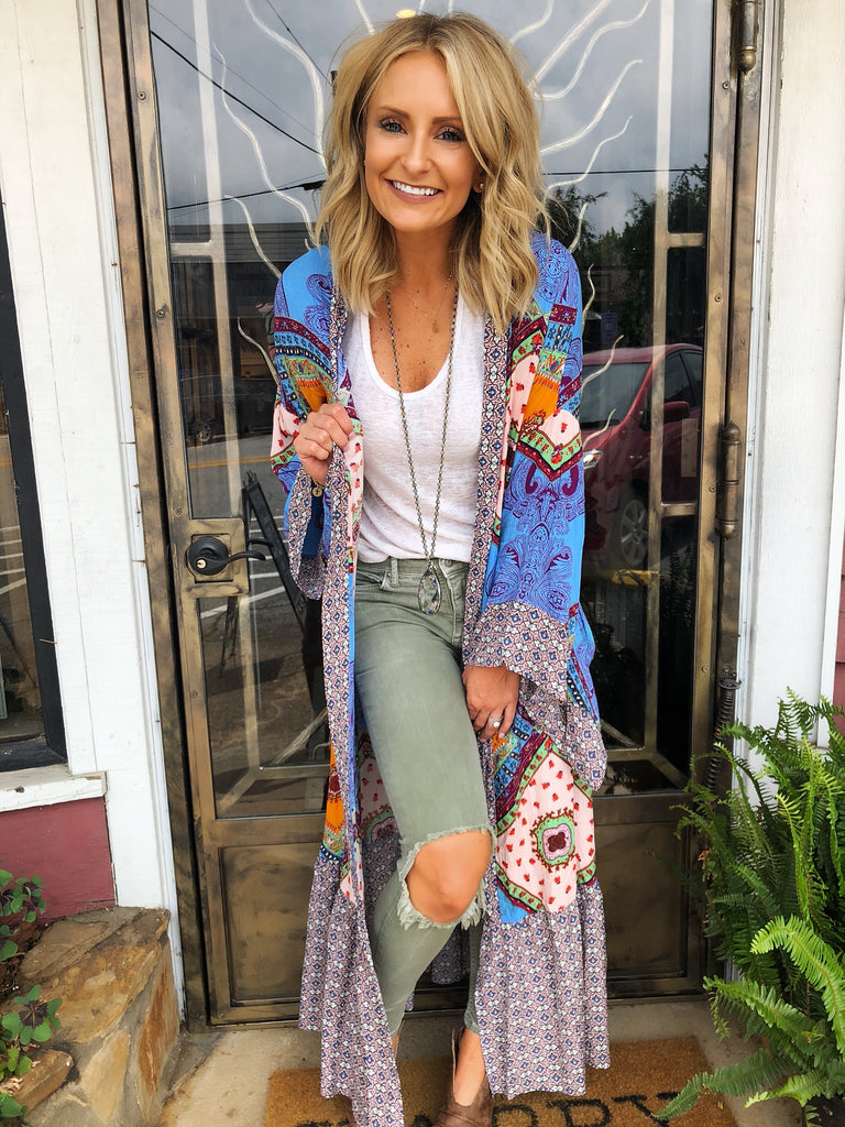 Mary Floral Cardi