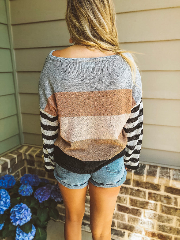 Keepin' It Real Stripe Sweater