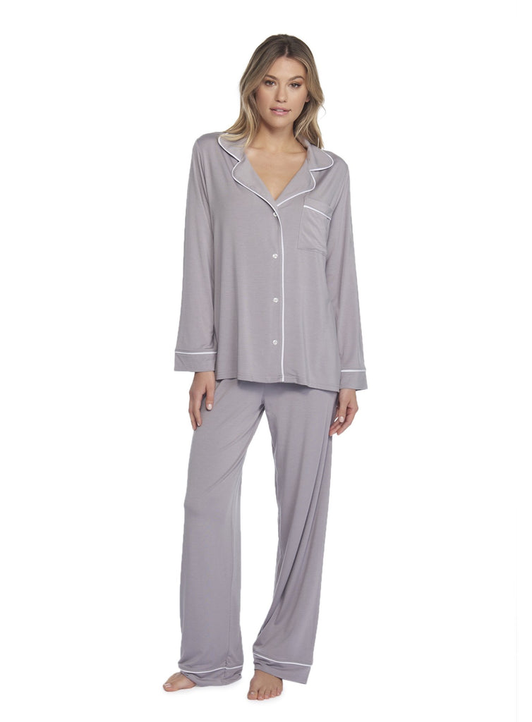 The Luxe Piped Pajama Set
