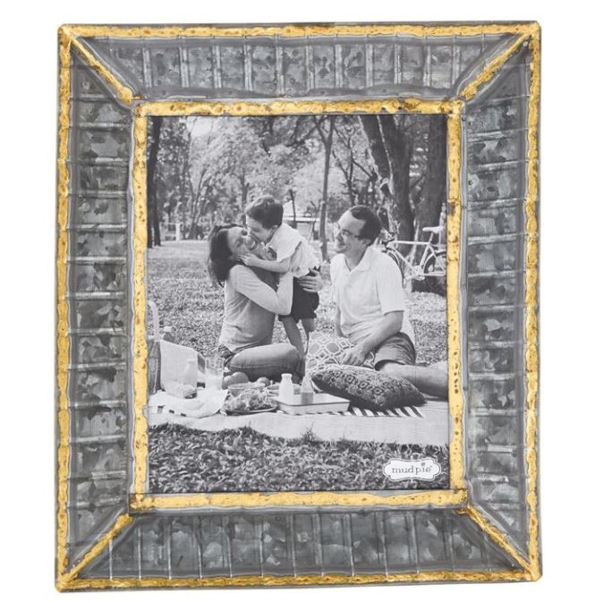 8 X 10 Tin Ribbed Picture Frame