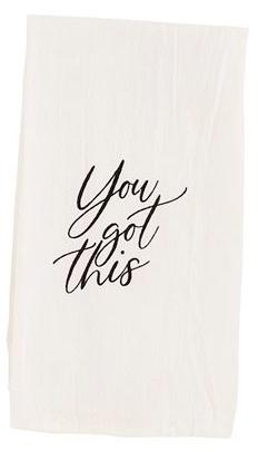 Positive Quote Cotton Towel