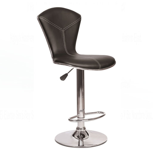 Julia Leatherette Swivel Adjustable Height Bar Stool (Brown)