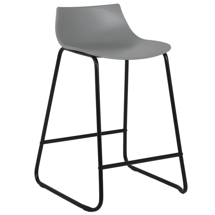 "Amelia 24"" Counter Stool with PP Seat (Gray with Black Legs) - 1 Unit"