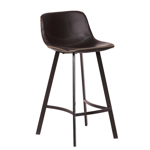 "Roma 26"" Leatherette Bar Stool (Black)"