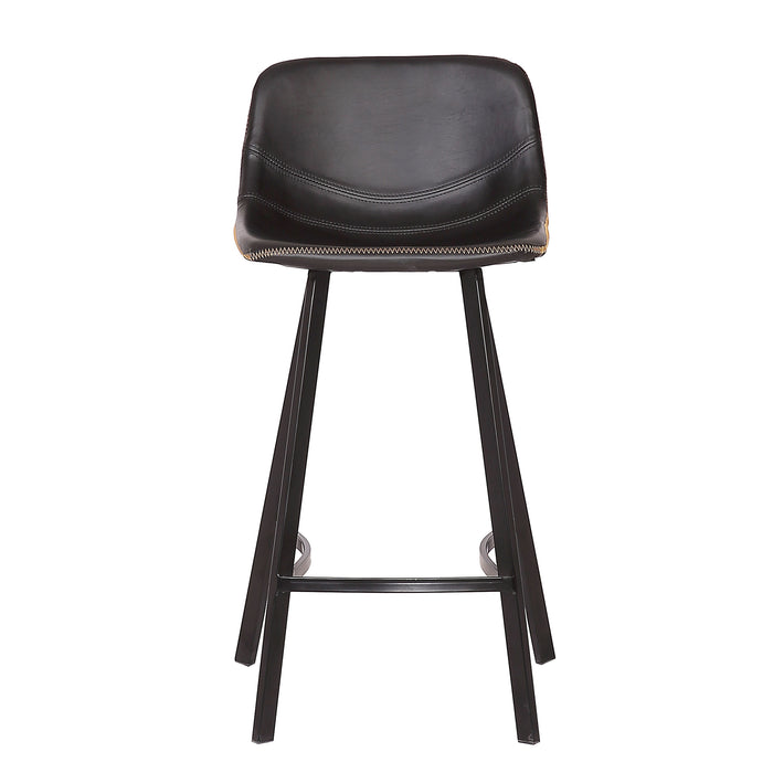 "Roma 26"" Leatherette Counter Stool (Black)"