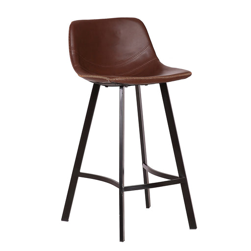 "Roma 26"" Leatherette Bar Stool (Brown)"