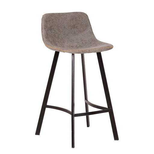 "Roma 26"" Leatherette Bar Stool (Grey)"