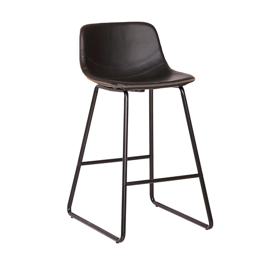 "Ivy 26"" Leatherete Bar Stool (Black)"
