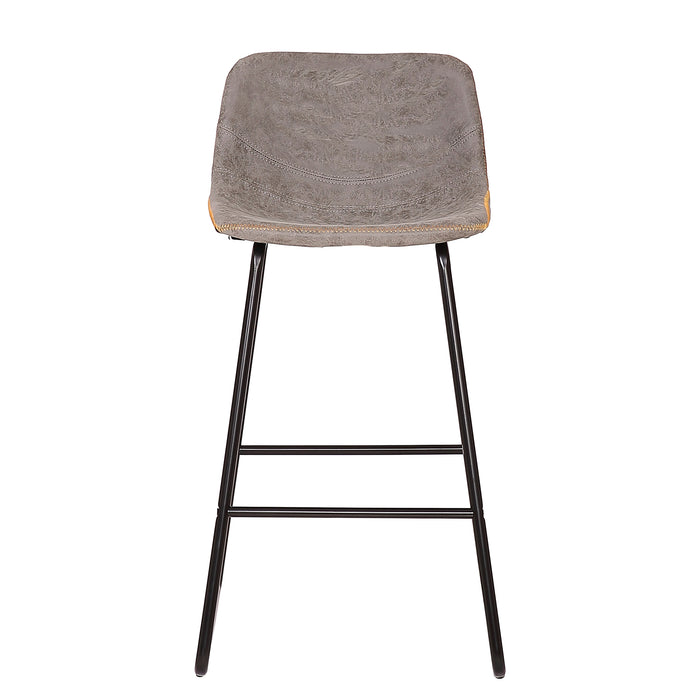 "Ivy 26"" Leatherete Bar Stool (Grey)"
