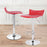 Megan Swivel Adjustable Height Bar Stool (Red)