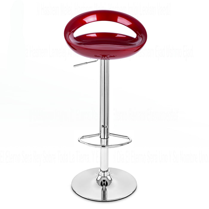 Felicity Swivel Adjustable Height Bar Stool (Deep Red)
