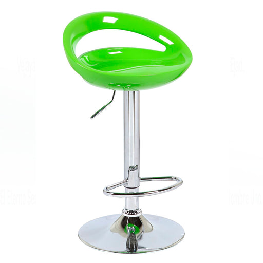 Felicity Swivel Adjustable Height Bar Stool (Green)