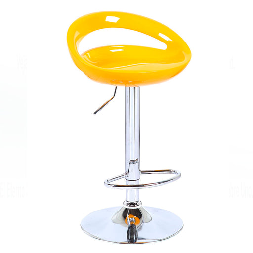 Felicity Swivel Adjustable Height Bar Stool (Yellow)