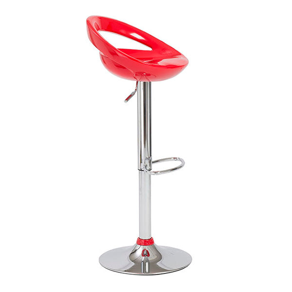 Felicity Swivel Adjustable Height Bar Stool (Red)