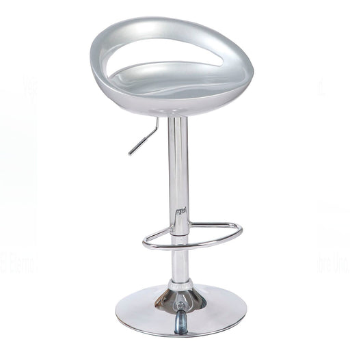 Felicity Swivel Adjustable Height Bar Stool (Silver)