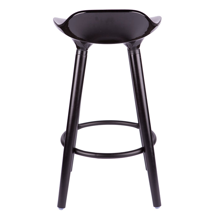 "Vienna 26"" Black ABS Counter Stool with Black Wooden Beech Legs"