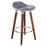 "Vienna 26"" Grey ABS Counter Stool with Dark Walnut Wooden Beech Legs"