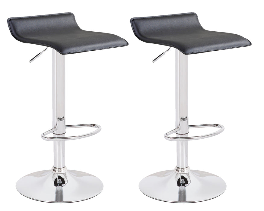 Miranda Swivel Adjustable Height Bar Stool (Black) - Set of 2