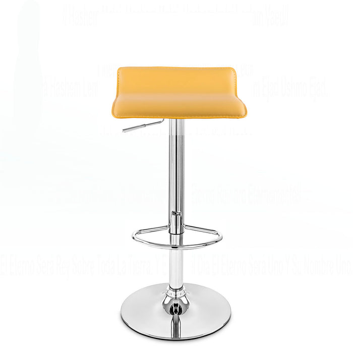 Miranda Swivel Adjustable Height Bar Stool (Yellow)