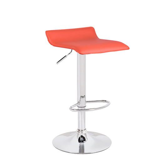Miranda Swivel Adjustable Height Bar Stool (Orange)