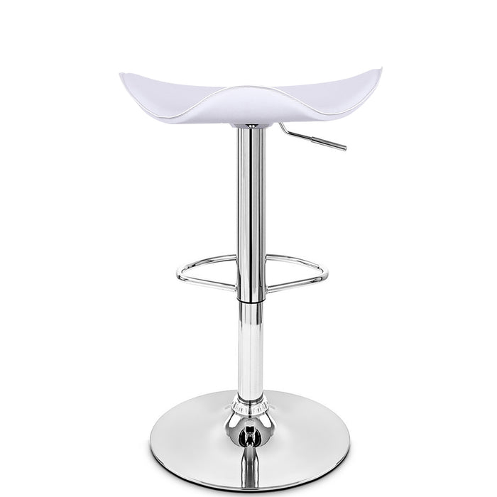 Morgan Swivel Adjustable Height Bar Stool (White) - Set of 2