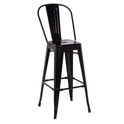 "Gordon Metal Bar Stool 30"" (Black)"