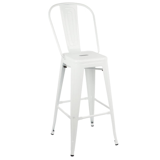 "Gordon Metal Bar Stool 30"" (White)"
